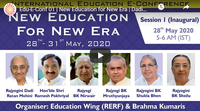 4 Days Online Conference | New Education for New Era | 28 to 31 May